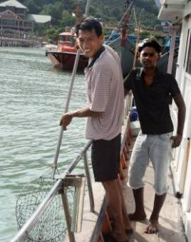 Tourists can spend three days with Dharma and the captain on the seas of Malaysia--for $1,416!