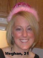 Meghan, age 21, UW LaCrosse Junior