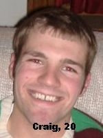 Craig, age 20, UW Madison Sophomore