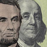 Abraham Lincoln and Benjamin Franklin have been on $5 (Abe) and $100 (Ben) bills since the early 1900s!