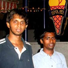 Left to right: Shreyas and Abhiram.