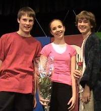 Left to right: Alex (Ensemble), Me (Shulie) and Matt  (Tom) after the final performance.
