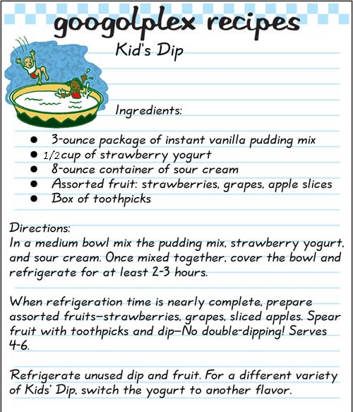 Dip fruit in this Kid's Dip.