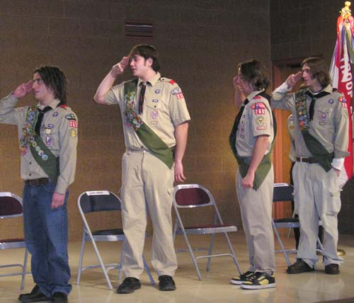 The four of us took our Eagle Scout oath together.