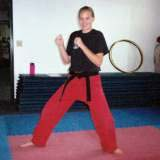 'I like karate because it's really fun and you meet cool people!'--Annie Pientenpol