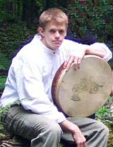 Jeff's bodhran is the heartbeat of the band.