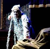 Nathan, as the ghost of Jacob Marley in 'A Christmas Carol.'