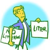 Check often to make sure your sign doesn't become litter!
