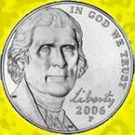 The 2006 nickel front: President Jefferson looking at you!