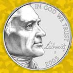 The 2005 nickel front: Jefferson looking to the side.