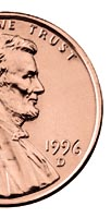 This penny was minted in Denver.