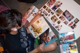 A vision board helps while you are creating it, and after.