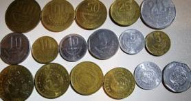 A variety of Colones coins