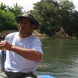 One of our guides, Felix, took us on a river rafting trip where we saw many animals and learned about the wildlife.