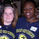 Volunteers for Day of Hope. That's me on the left.
