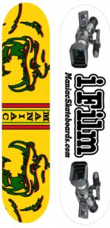 Two designs that I came up with for Maniac Skateboards