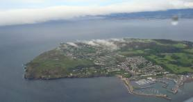 First stop Dublin! This is a view of Ireland from the plane as we were landing.