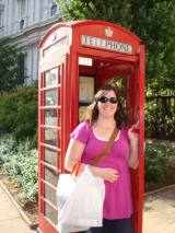 Cheesy London phone booth photo!