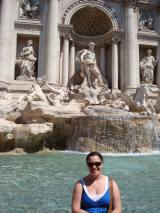 The Trevi Fountain in Rome is a big tourist attraction--bring a snack!