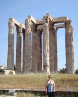 In front of the remains of the Temple of Olympian Zeus in Athens. It's fun to imagine what this temple must have looked like in the past.